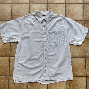 The North Face XL Gray White Plaid Shirt